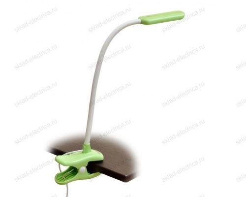 Светильник настольный прищепка. 4W. Сенсорный выключатель. Зеленый.