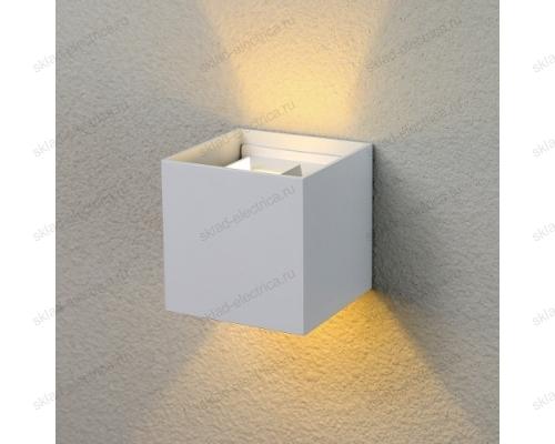WINNER уличный настенный светодиодный светильник 1548 TECHNO LED белый