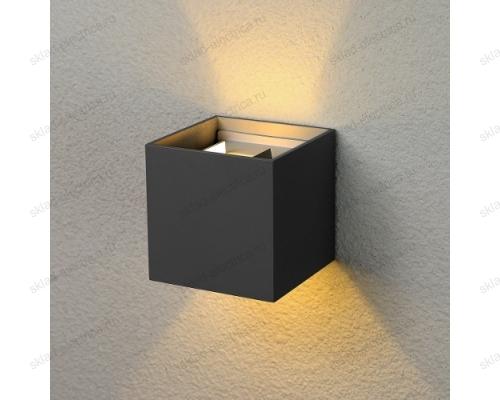 WINNER уличный настенный светодиодный светильник 1548 TECHNO LED черный