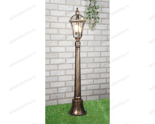 Светильник на столбе Capella F черное золото