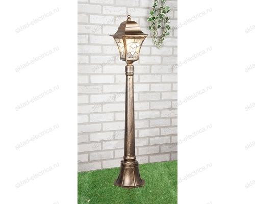 Светильник на столбе Altair F черное золото