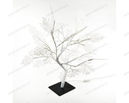 Дерево светодиодное Морозко. 50 см. 54 светодиода. Синий и белый свет. Провод белый.