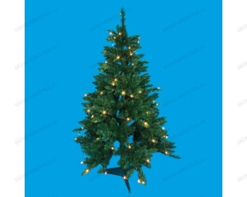 Дерево светодиодное Ёлочка. 120 см. 100 светодиодов. Теплый белый свет. Провод черный.