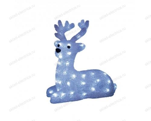 Фигура светодиодная Лежащий оленёнок. 50 светодиодов. 31x15x33 см. цвет-свечения- белый. IP20