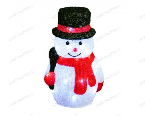 Фигура светодиодная Снеговик-3. 30 светодиодов. размер 18x15x27 см. цвет свечения-белый. IP20.