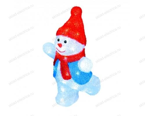 Фигура светодиодная Снеговик-2. 40 светодиодов. размер 22x17x34 см. цвет свечения-белый. IP20.