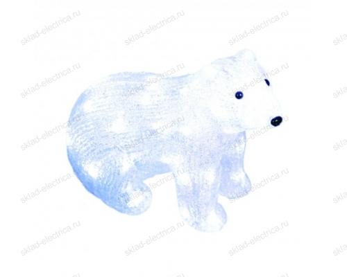 Фигура светодиодная Белый медведь-4. 40 светодиодов. размер 31x15x25 см. цвет свечения-белый. IP20