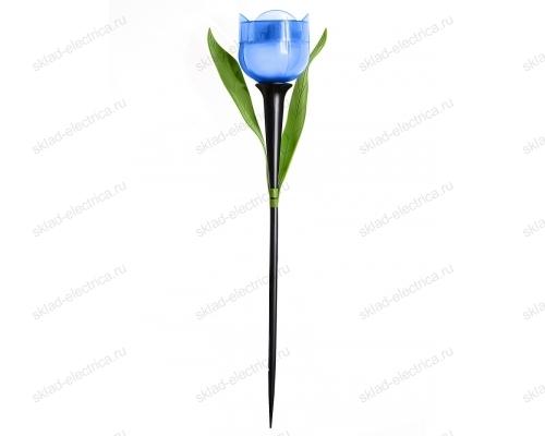 Usl-c-454-pt305 blue tulip садовый светильник на солнечной батарее синий тюльпан. белый свет. 1xlr аккумулятор в-к. ip44. tm uniel.
