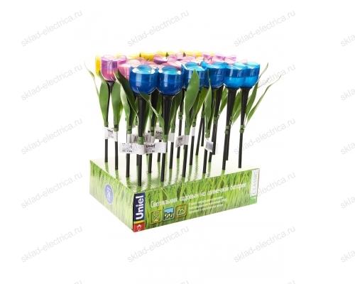 Usl-c-651-pt305 tulip set 24 садовый светильник на солнечной батарее тюльпан. в составе набора из 24 шт. белый свет. 1xlr аккумулятор в-к. ip44. tm uniel.