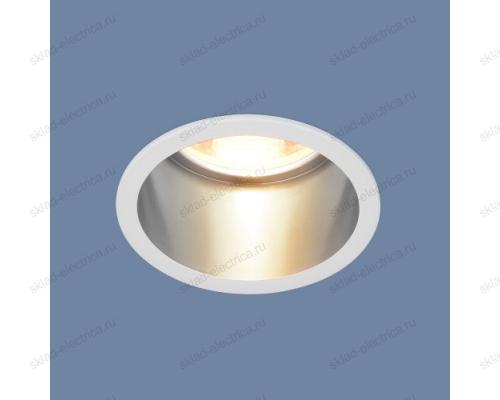 Встраиваемый потолочный светильник 7004 MR16 WH/SL белый/серебро