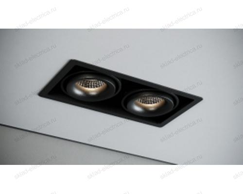 Светильник встраиваемый черный Quest Light CASTLE 2 LD black