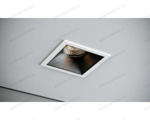 Светильник встраиваемый белый с черной вставкой Quest Light HOTSPOT Rise 01 white/black