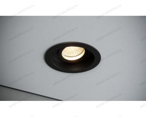 Светильник встраиваемый черный Quest Light DEEP 80 black