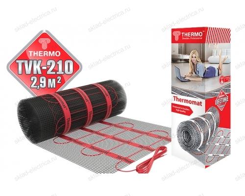 Нагревательный мат( теплый пол) под плитку Thermomat TVK 210 2,9 кв.м(210Вт/кв.м)