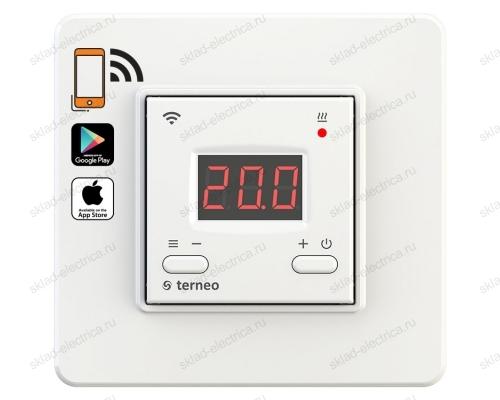 Wi-Fi терморегулятор для теплого пола terneo ax, белый
