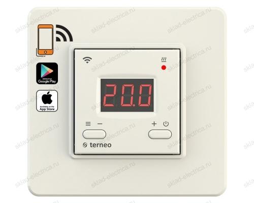 Wi-Fi терморегулятор для теплого пола terneo ax, слоновая кость
