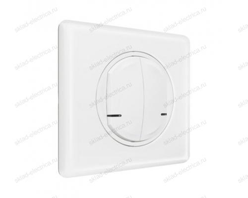 Выключатель двухклавишный беспроводной цвет Белый Celiane Legrand NETATMO 067724