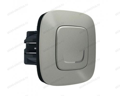 Выключатель с опцией светорегулирования 5-300 Вт цвет Алюминий Valena Allure Legrand NETATMO 752784