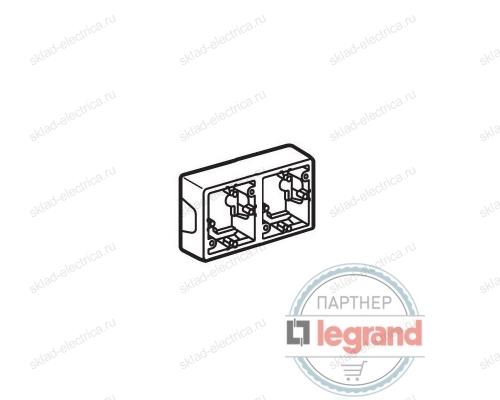 Коробка Valena для накладного монтажа 2 поста Legrand Valena (Белый) 776182