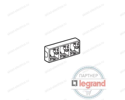 Коробка Valena для накладного монтажа 3 поста Legrand Valena (Белый) 776183