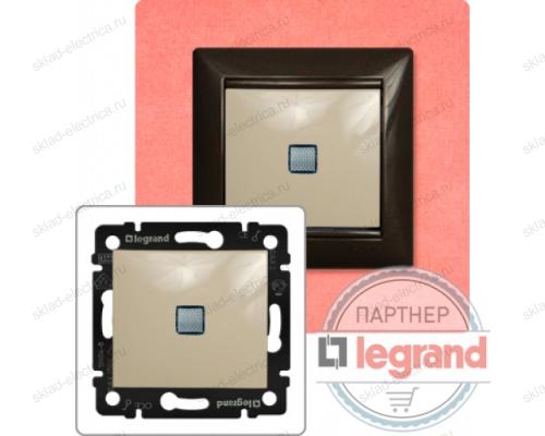 Выключатель одноклавишный с подсветкой Legrand Valena (Сл. Кость) 774310