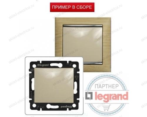 Одноклавишный выключатель влагозащищенный IP 44 Legrand Valena (Сл. Кость) 774101