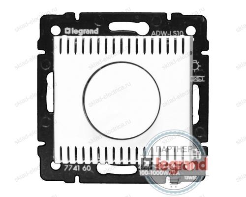 Светорегулятор поворотный 100-1000Вт Legrand Valena (Белый) 770060