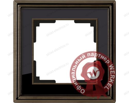 Рамка одинарная Werkel Palacio бронза-черный a037687