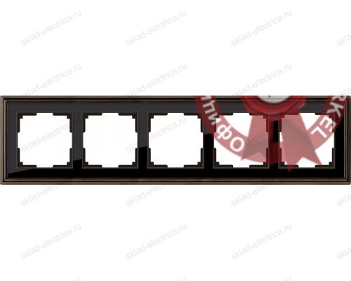 Рамка пятерная Werkel Palacio бронза-черный a037691