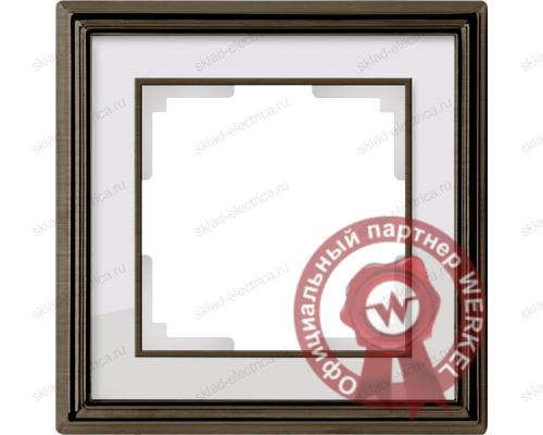 Рамка одинарная Werkel Palacio бронза-белый a037682