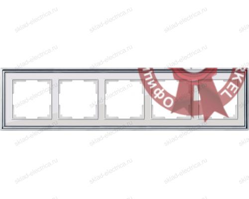 Рамка пятерная Werkel Palacio хром-белый a037696