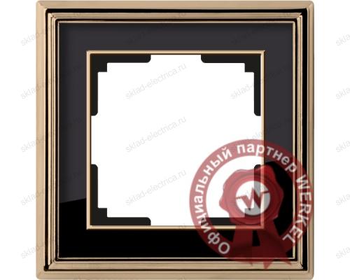 Рамка одинарная Werkel Palacio золото-черный a037672
