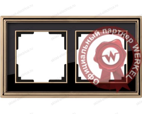 Рамка двойная Werkel Palacio золото-черный a037673