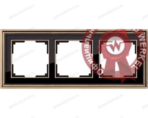 Рамка тройная Werkel Palacio золото-черный a037674