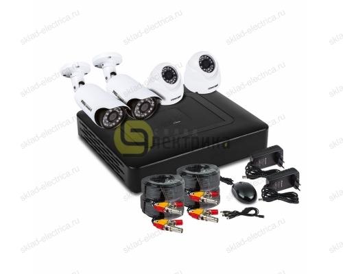 Комплект видеонаблюдения на 2 наружные и 2 внутренние камеры AHD-M (без HDD) 45-0405