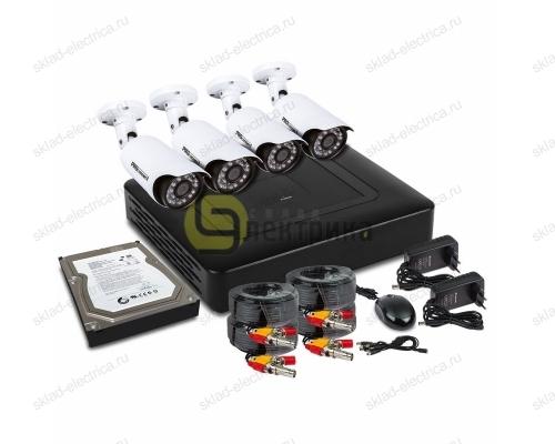 Комплект видеонаблюдения на 4 наружные камеры AHD-M (с HDD-1Tб) 45-0411