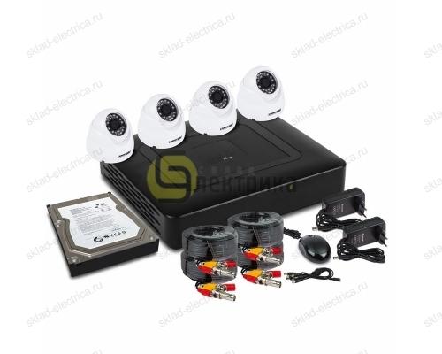 Комплект видеонаблюдения на 4 внутренние камеры AHD-M (с HDD-1Tб) 45-0413