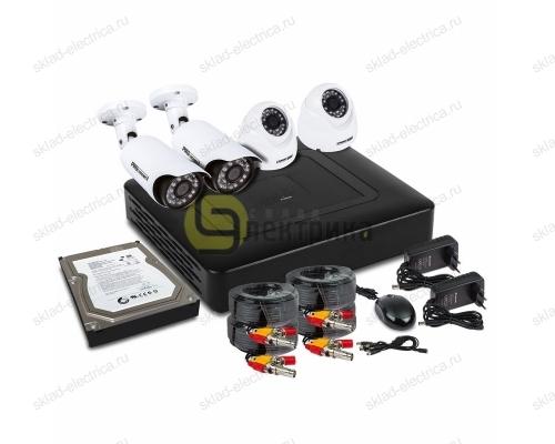 Комплект видеонаблюдения на 2 внутренние и 2 наружные камеры AHD-M (с HDD-1Tб) 45-0415