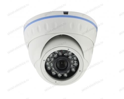 Kупольная уличная камера IP 2.1Мп Full HD (1080P), объектив 2.8-12 мм. , ИК до 30 м. , PoE 45-0252