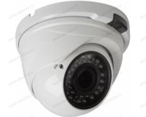 Купольная уличная камера AHD 2.1Мп (1080P), объектив 2.8-12мм. , ИК до 30 м. 45-0264