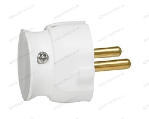 Legrand Элиум Белый Вилка 2Р, 16А, пластик ультраплоская 50183