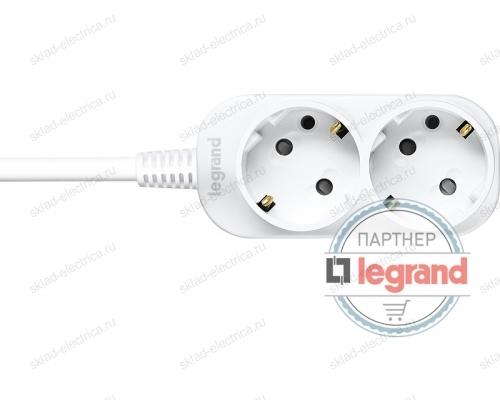 Удлинитель 2 поста Legrand Anam e-Fren, 2,5м 10A L855960A2