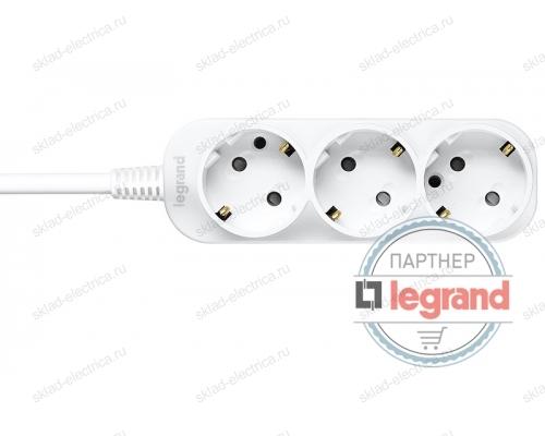 Удлинитель 3 поста Legrand Anam e-Fren, 1,5м, 10A L855960B1