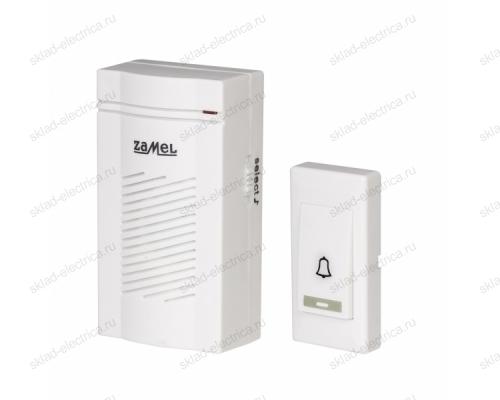 Звонок Zamel CLASSIC беспроводной радиус действия 100м (питание от батареек) ST 901