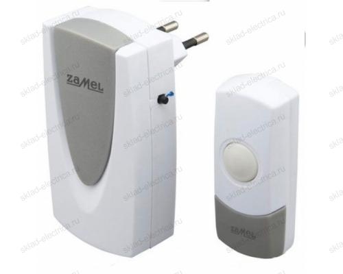 Звонок Zamel FOXTROT беспроводной радиус действия 60м (питание от розетки 220В) ST 925